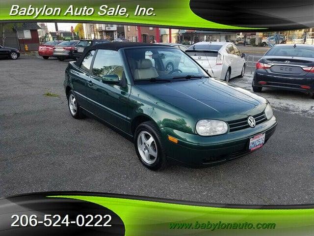 1999 Volkswagen Cabrio 2 Dr New GLS Convertible