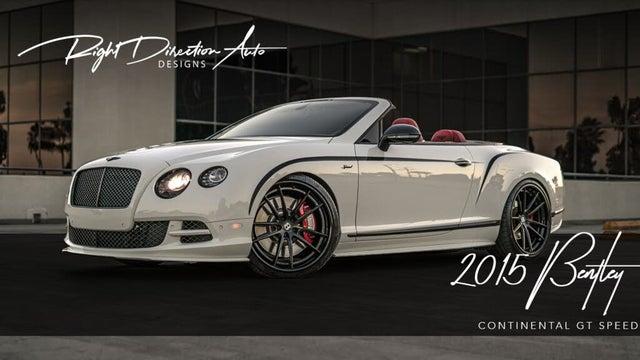 2015 Bentley Continental GTC Speed AWD