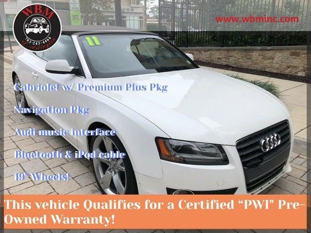2011 Audi A5 2.0T Premium Plus Cabriolet FWD