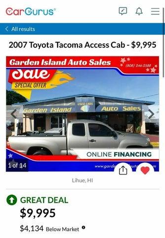 2007 Toyota Tacoma Access Cab