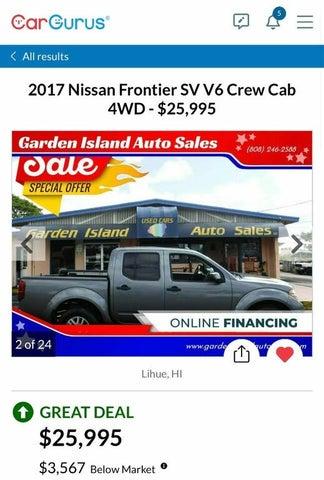 2017 Nissan Frontier SV V6 Crew Cab 4WD