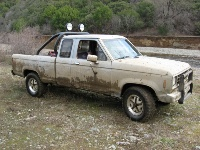 1985 Ford Ranger, My truck in Cow Moutain near Lake Port C.A.