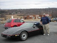 1984 Chevrolet Corvette, me and my vette at dealer looking for a car for the wife