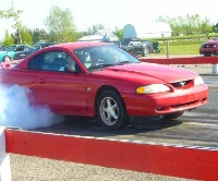 1994 Ford Mustang GT Coupe, Me at the drag !, exterior