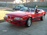 1990 Ford Mustang LX 5.0 Convertible, 1990 LX Convertible, exterior