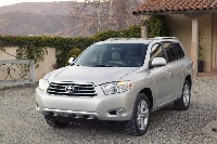 Front view of the 2008 Toyota Highlander, exterior
