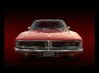 My 1969 Dodge Charger R/T SE front view in photoshop
