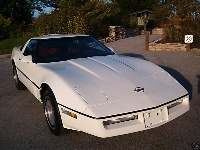 1986 Chevrolet Corvette, looking fast while standing still