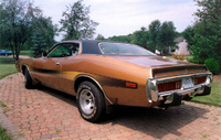 1974 Dodge Charger Rallye in Aztec Gold.  400 Magnum Survivor., exterior