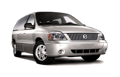 Front-quarter view of the 2007 Mercury Monterey.