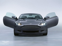 2007 Aston Martin DB9 Coupe, Front view of the 2007 Aston Martin DB9, with the doors open., exterior, manufacturer