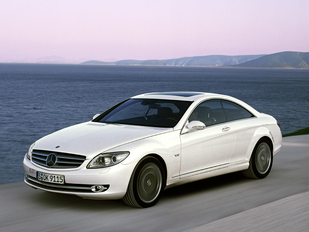 Front-quarter view of the 2007 Mercedes-Benz CL600.