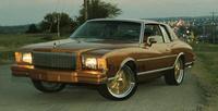 1978 Chevrolet Monte Carlo, Stock color repainted with aftermarket wheels. -Martin Flores (Untouchablez C.C. Topeka, KS)