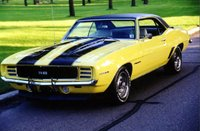 1969 Chevrolet Camaro, 1969 Camaro RS/SS Yellow w/ Black stripes, exterior