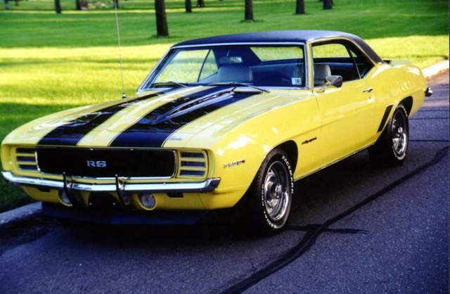 1969 Camaro RS/SS Yellow w/ Black stripes