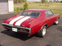 1970 Chevrolet Chevelle, 1970 Chevelle SS Rear View, gallery_worthy