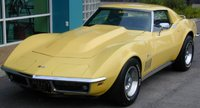 1972 Chevrolet Corvette, 1969 Corvette C4 Coupe 427 in yellow, exterior