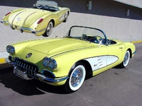 1958 Chevrolet Corvette Convertible Roadster, 1958 Corvette Convertible in Panama Yellow