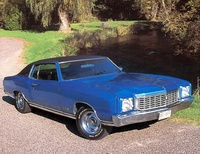 1970 Chevrolet Monte Carlo, 1972 Chevrolet Monte Carlo Sports Coupe blue