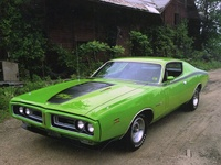 1971 Dodge Charger R/T in green Apple, exterior