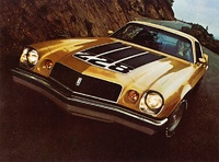 1974 Chevrolet Camaro, 1974 Camaro Z28 in gold metallic