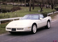 1988 Chevrolet Corvette Coupe, 1989 Corvette Coupe in White, exterior