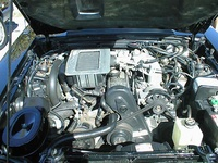 1984 Ford Mustang SVO, Engine bay of a Mustang SVO.