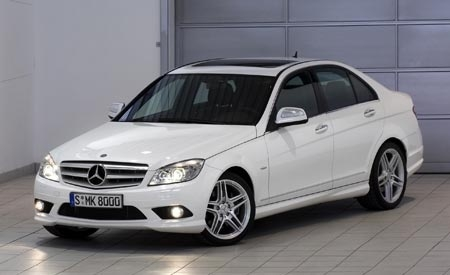 Front-quarter view of the 2008 Mercedes-Benz C-Class.