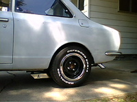 1969 Toyota Corolla Coupe, Showing Mini traction bar and half of my Twice pipes