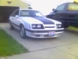 1985 Ford Mustang, Front end