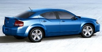 2008 Dodge Avenger, Rear-quarter view of the 2008 Avenger, manufacturer, exterior