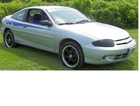 2005 Chevrolet Cavalier Base Coupe, Front-quarter view of a 2005 Cavalier coupe