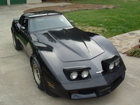 1981 Chevrolet Corvette Coupe, 1981 Black on Black Chevrolet Corvette
