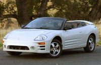 2002 Mitsubishi Eclipse Spyder, Front-quarter view of a 2005 Eclipse convertible