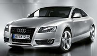 A front-quarter view of the brand new 2008 Audi A5, exterior, manufacturer, gallery_worthy