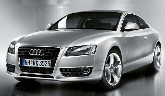 A front-quarter view of the brand new 2008 Audi A5