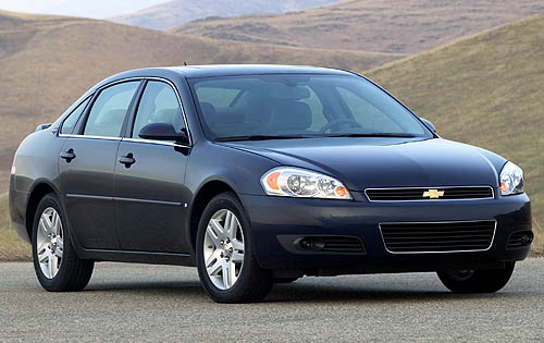 Front-quarter view of a 2008 Chevy Impala