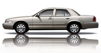Profile of the 2008 Mercury Grand Marquis, exterior