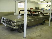 1959 Chevrolet Biscayne, the car was mocked up an completely assymbled. this picture was after all panels lines fit ready for tare down.
