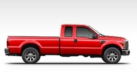 2008 Ford F-250 Super Duty Lariat Crew Cab, Side View, exterior, manufacturer
