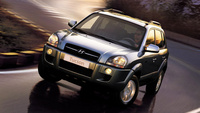 2007 Hyundai Tucson 4 Dr SE, Front View, exterior, manufacturer