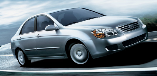 The 2007 Kia Spectra, exterior, manufacturer