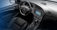 2007 Saab 9-5, front seat aerial view, interior, manufacturer