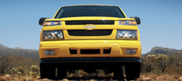 2007 Chevrolet Colorado LS Extended Cab, Front Profile, exterior, manufacturer
