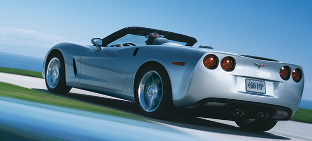 2007 Chevrolet Corvette Convertible, Rear Quarter View, manufacturer, exterior