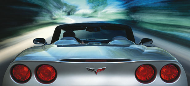 2007 Chevrolet Corvette Convertible, Rear Profile, manufacturer, exterior