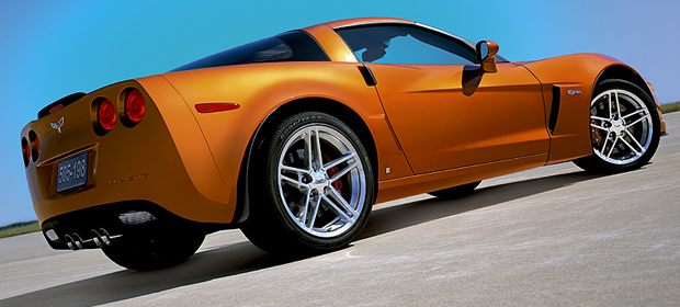 2007 Chevrolet Corvette Z06, Rear Quarter View, manufacturer, exterior