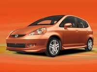 2007 Honda Fit Base, Front Corner View, manufacturer, exterior