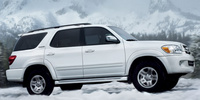 2007 Toyota Sequoia 4 Dr Limited V8, color-keyed rear spoiler, manufacturer, exterior