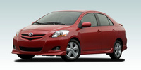 2007 Toyota Yaris S, 15-in. aluminum alloy wheels and rear spoiler, manufacturer, exterior